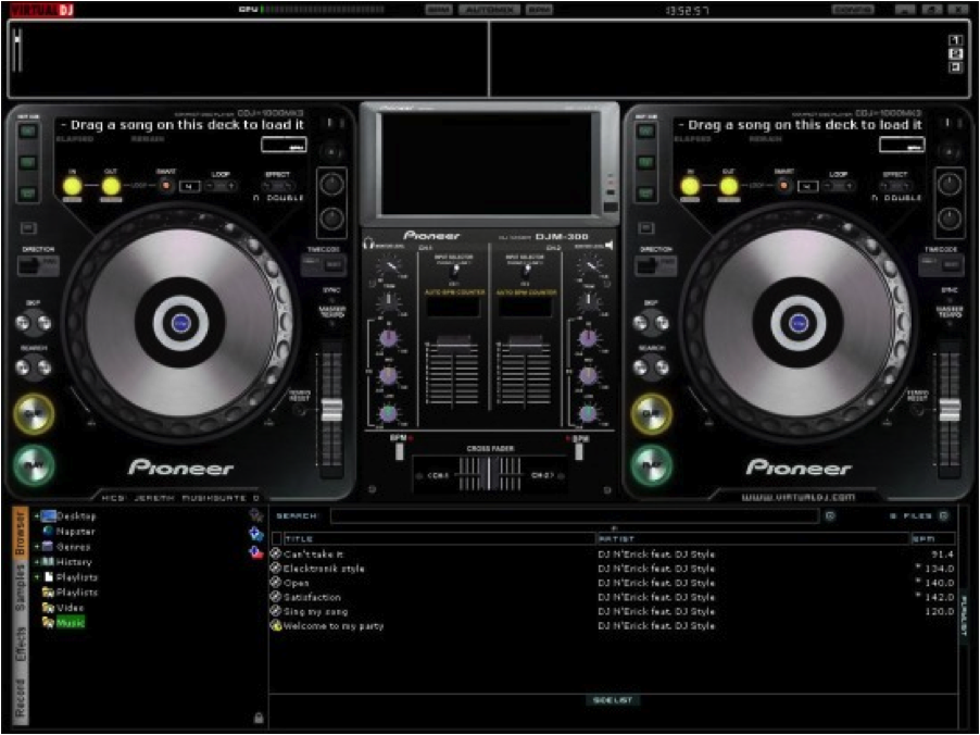 It's as if someone took a picture of some turntables and put it into the digital software.