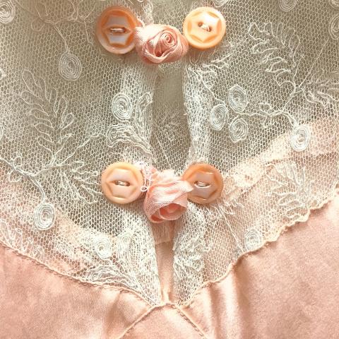 1940's Lace & Silk Night Dress