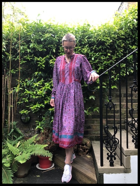 Vintage Hand Block Print Dress - Ebay,Trainers - Adidas.