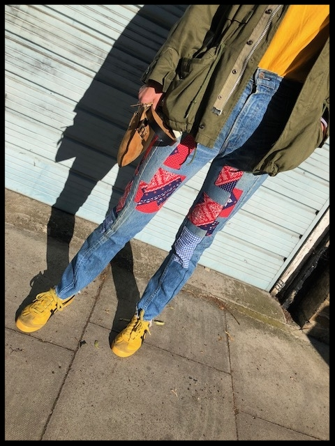 Jacket - Bad Denim, T-shirt - New York Souvenir Shop, Jeans - East London Style (Home-made).