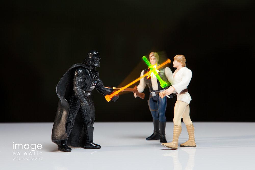 Gun in a Lightsaber Battle