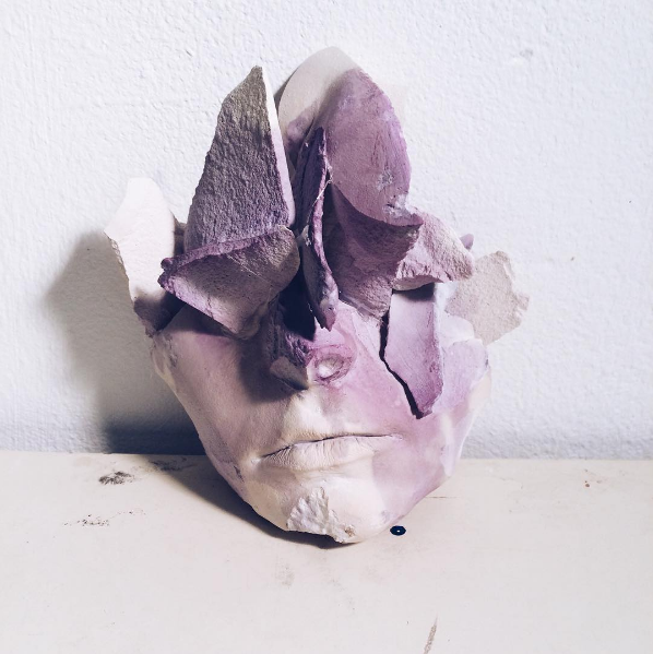 """Degradation of Self"" Plaster & wine, 2016."