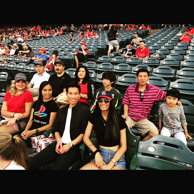 Happy Monday!! We had a great time watching the Angels game this weekend:) . . #baseball #angels #fun #goodvibes #weekend #game #summer2018