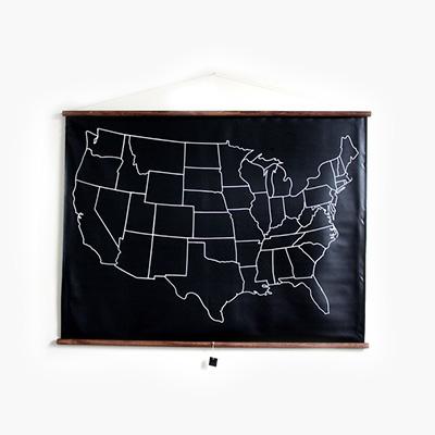 US Chalkboard Map