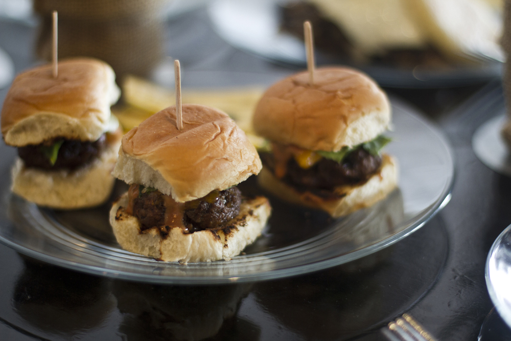 The juicy chorizo sliders.
