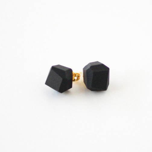AMM Jewelry Black Geo Earrings