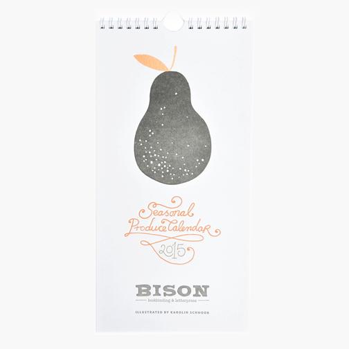 Leif Letterpress Seasonal Produce