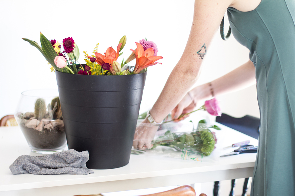 A little sneak peek of a DIY homemade arrangement + great tips from Amanda. (coming soon)