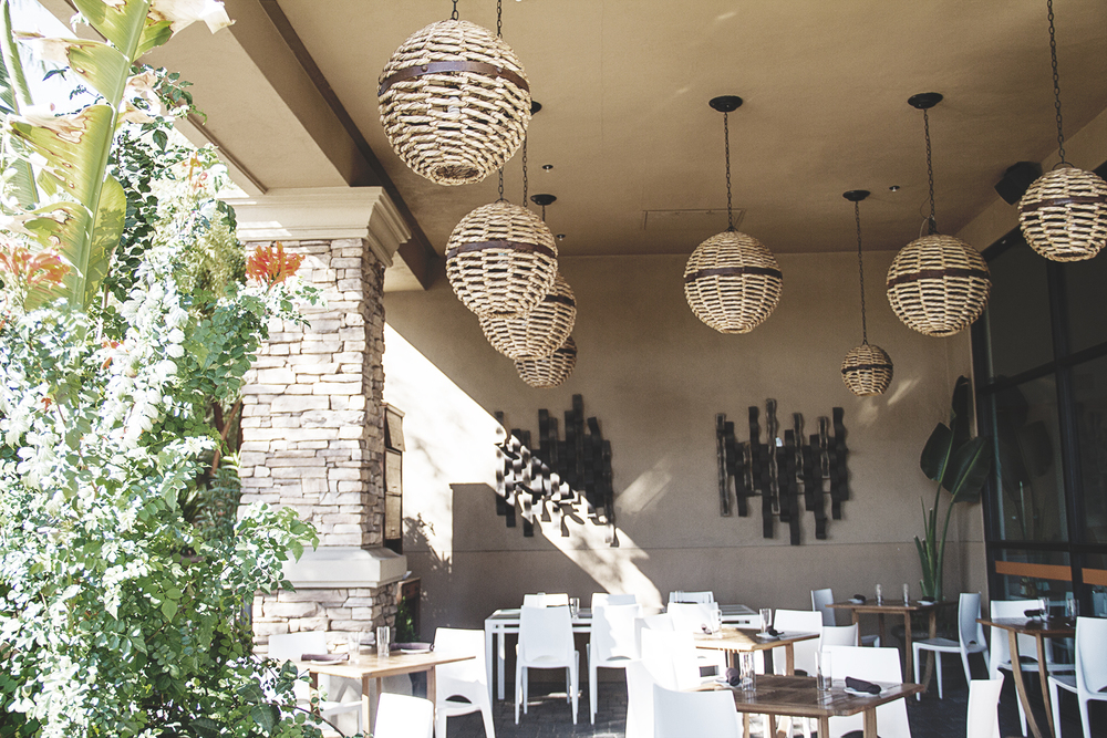 The patio area is the perfect spot for a Sunday brunch.