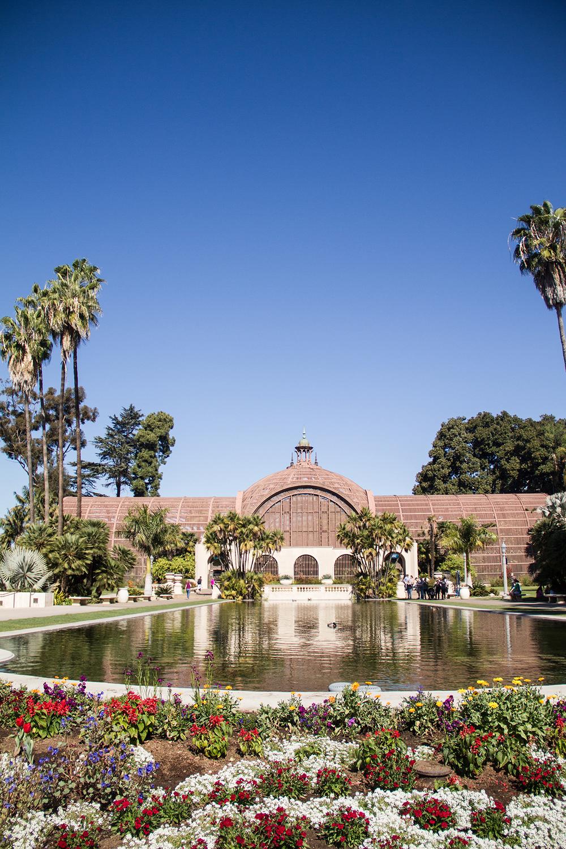Outside the Botanical Building at Balboa Park...