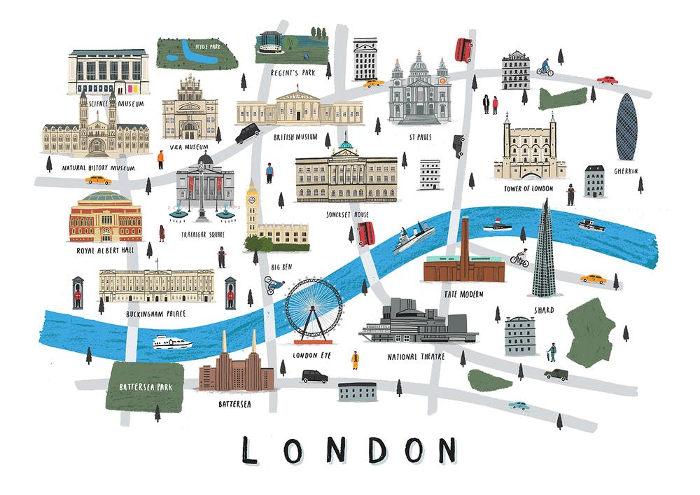 London map print Alex Foster