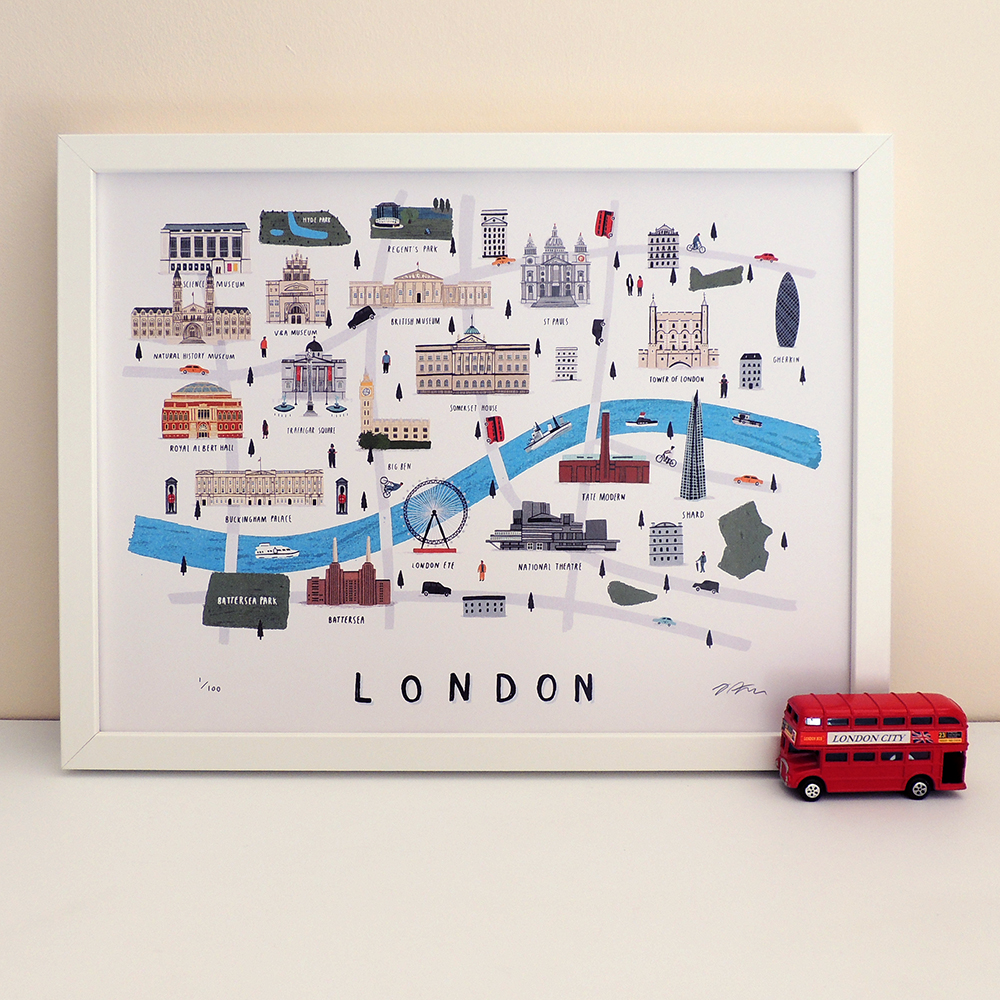 The London map print