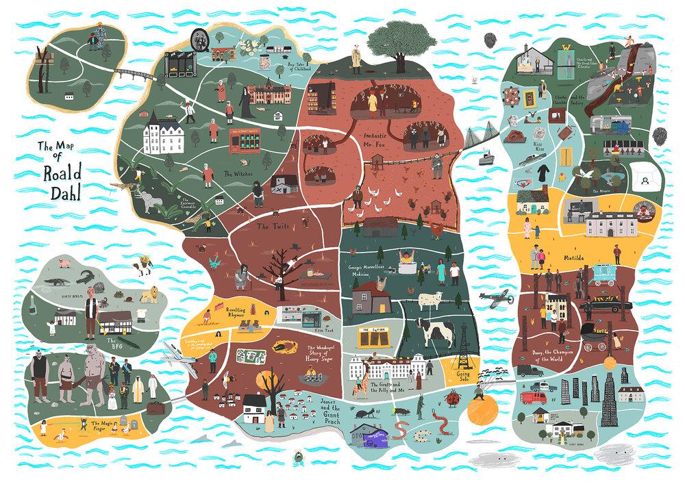 The map of Roald Dahl