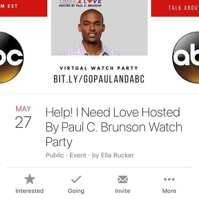 Check out Paul C. Brunson's new show tonight on ABC!!! It's about finding love.