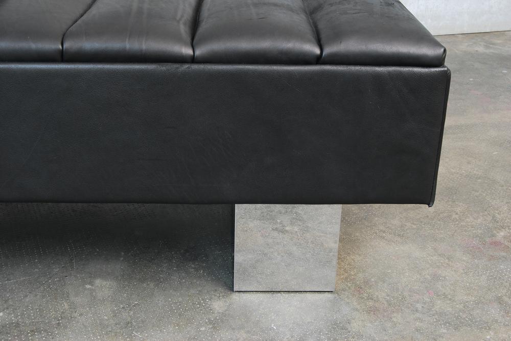 ORVETT for DIESEL - ASIMMETRICO SOFÀ, black leather
