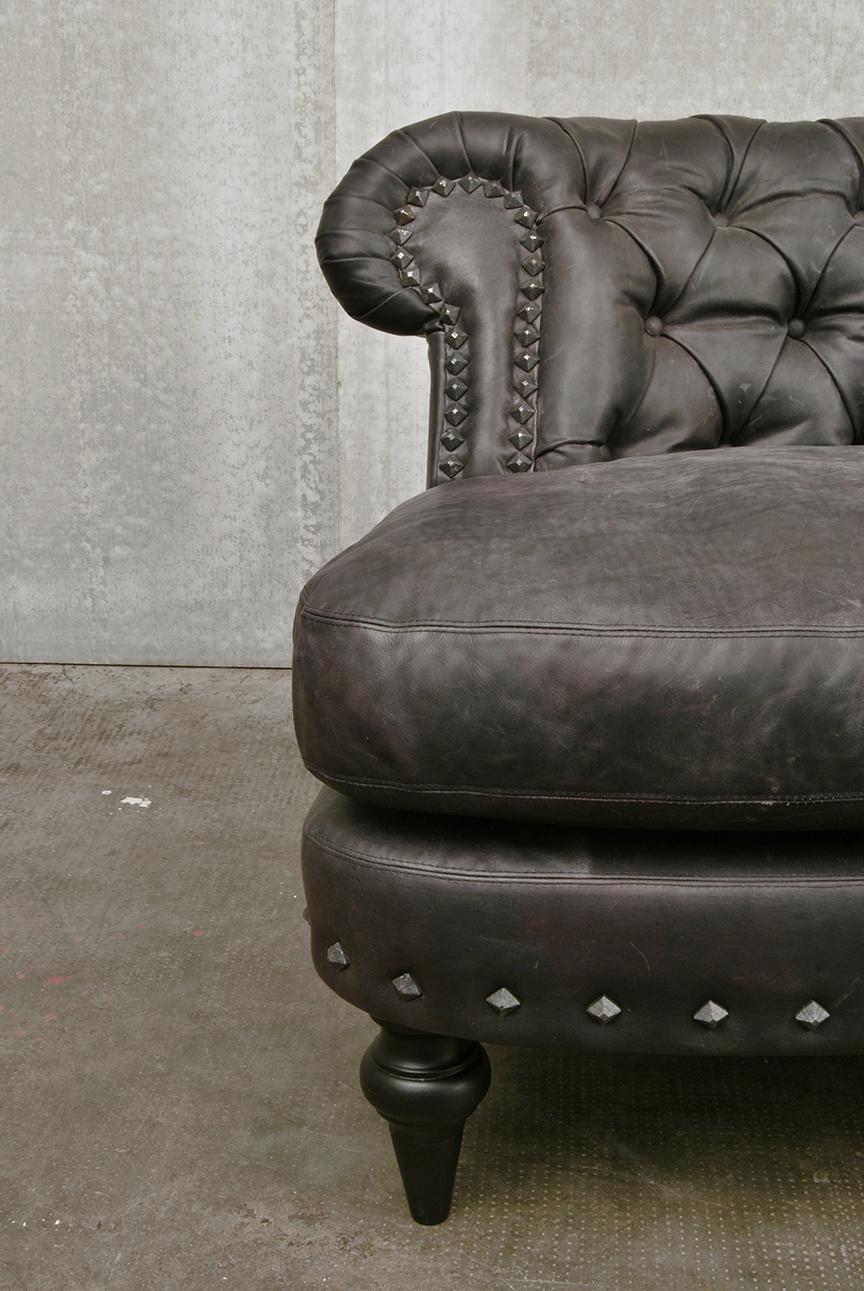 ORVETT for DIESEL - CHESTER SOFÀ, gray leather