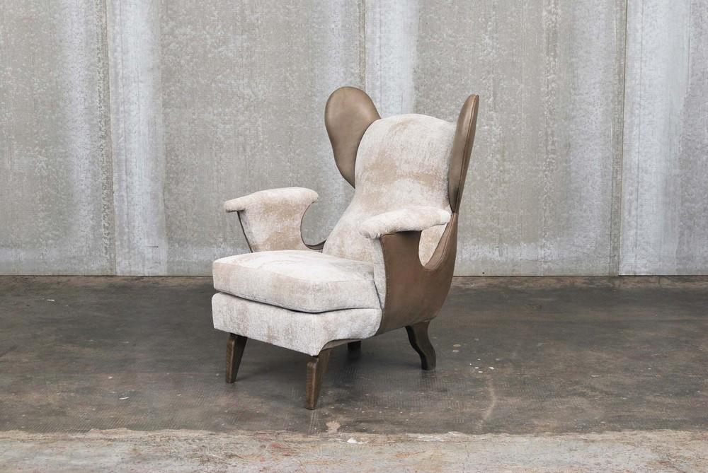 ORVETT for DIESEL - DUMBO ARMCHAIR, leather and fabric