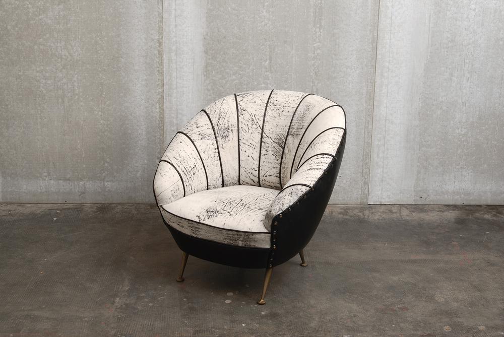 ORVETT for DIESEL - SHELL ARMCHAIR, Pietra leather