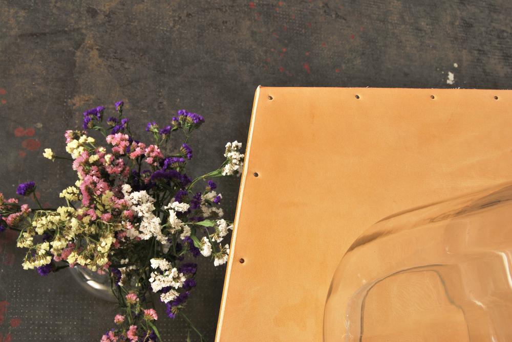 ORVETT for DIESEL - BAT TABLE, natural leather