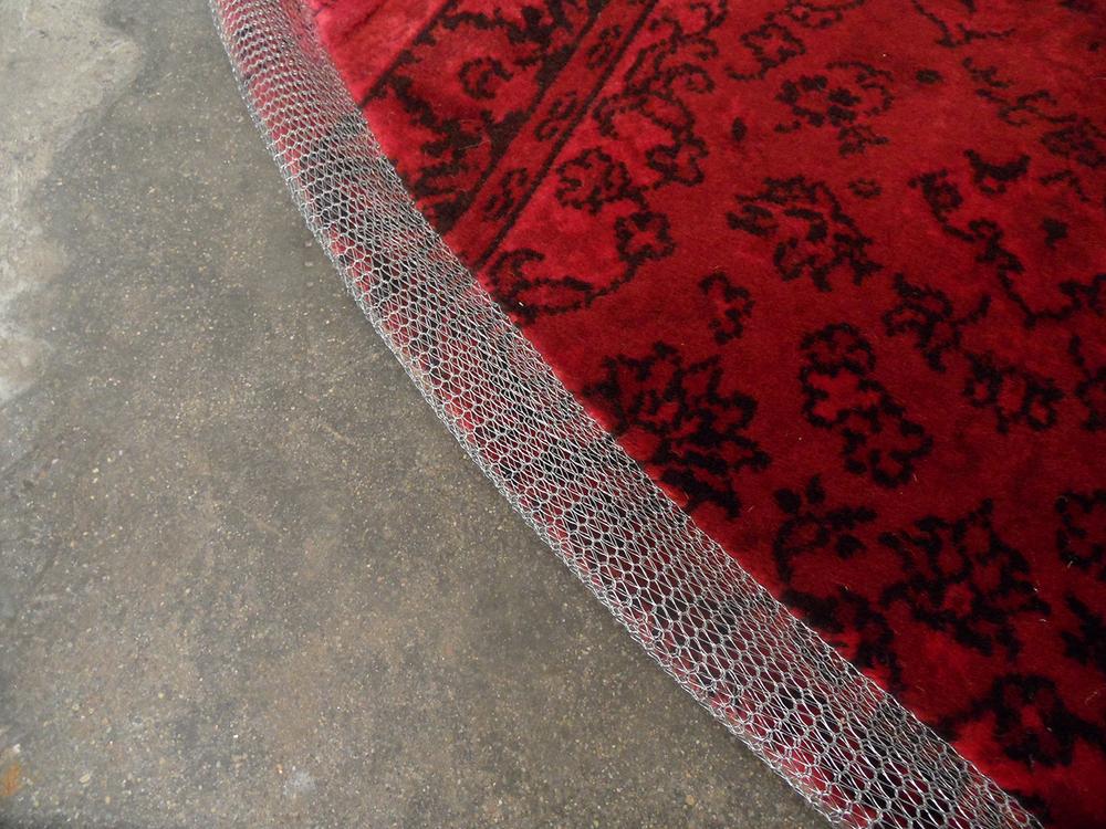 ORVETT for DIESEL - ROUND PATCHWORK CARPET, red painted, detail