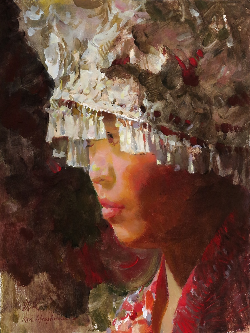 Woman in Headdress