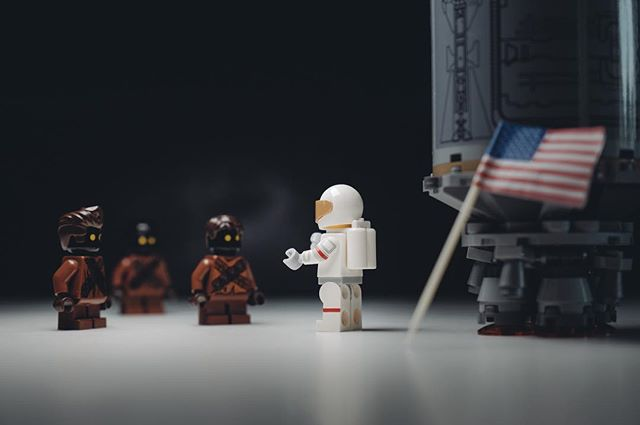 """No. We did not get your email."" #OnThisDay #MoonLanding #NASA #NeilArmstrong #MiniMalarkey . . . . . #toyphotography #legominifigures #legostagram #starwars #legoland #lego #minifigures #topToyPhotos #legophotography #legoaddict #legoart #brickcentral #lego_hub #stuckinplastic #toyartistry #bricknetwork #legophoto #artovercontent #condronphoto #irishartist #irishphotographer"