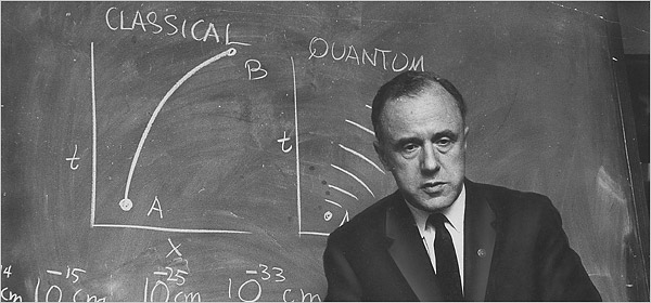 John A. Wheeler at Princeton University in 1967. (Image Credit:  The NY Times ).