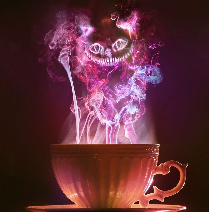 "Putting down her cup of tea, she asked in a timid voice, ""Is light made of waves, or is it made of particles:"" ""Yes, exactly so,"" replied the Mad Hatter. (Source: ""Alice's Adventures in Wonderland"")."