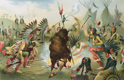 Follow the Chief: War Dance of the Sioux (by:  Rudolf Cronau ).
