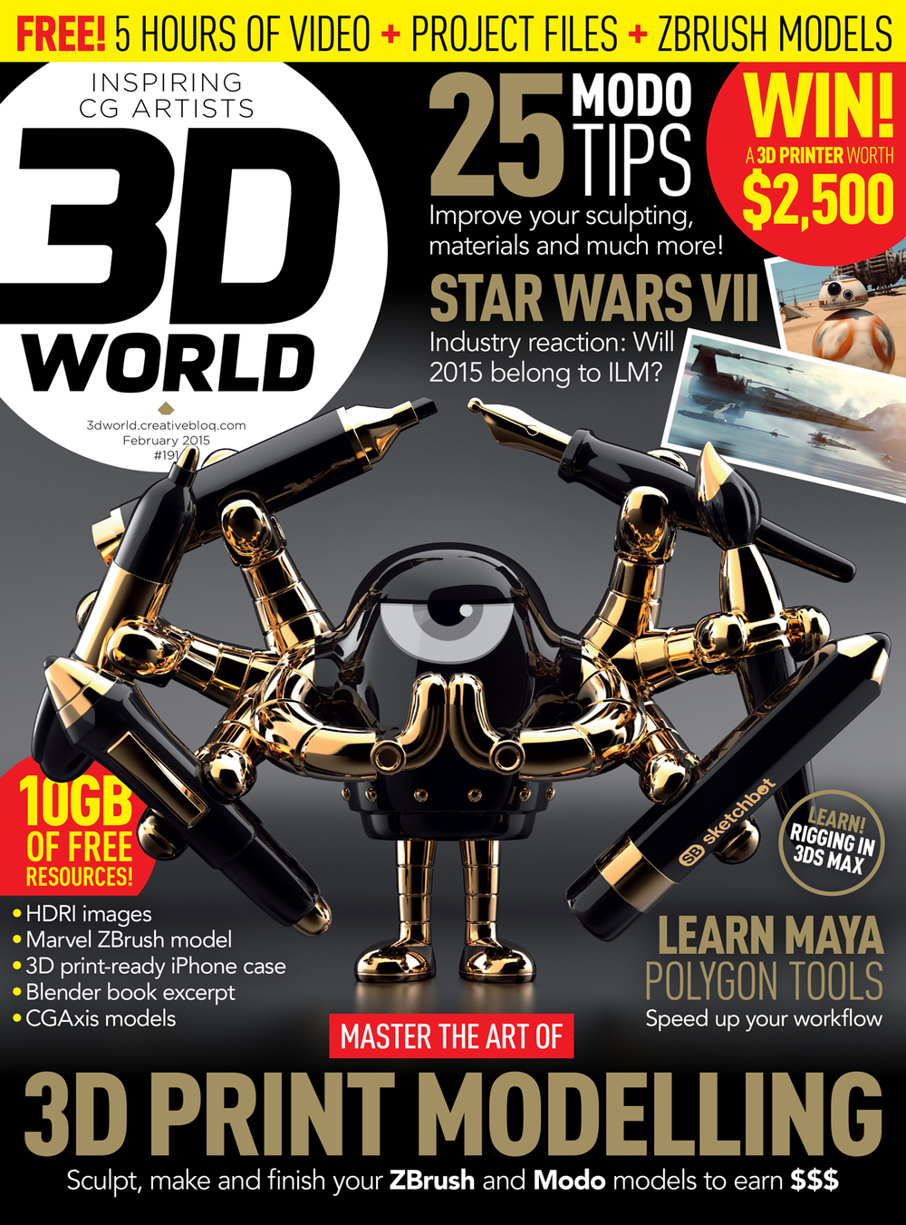 3D World Magazine #191 February 2015