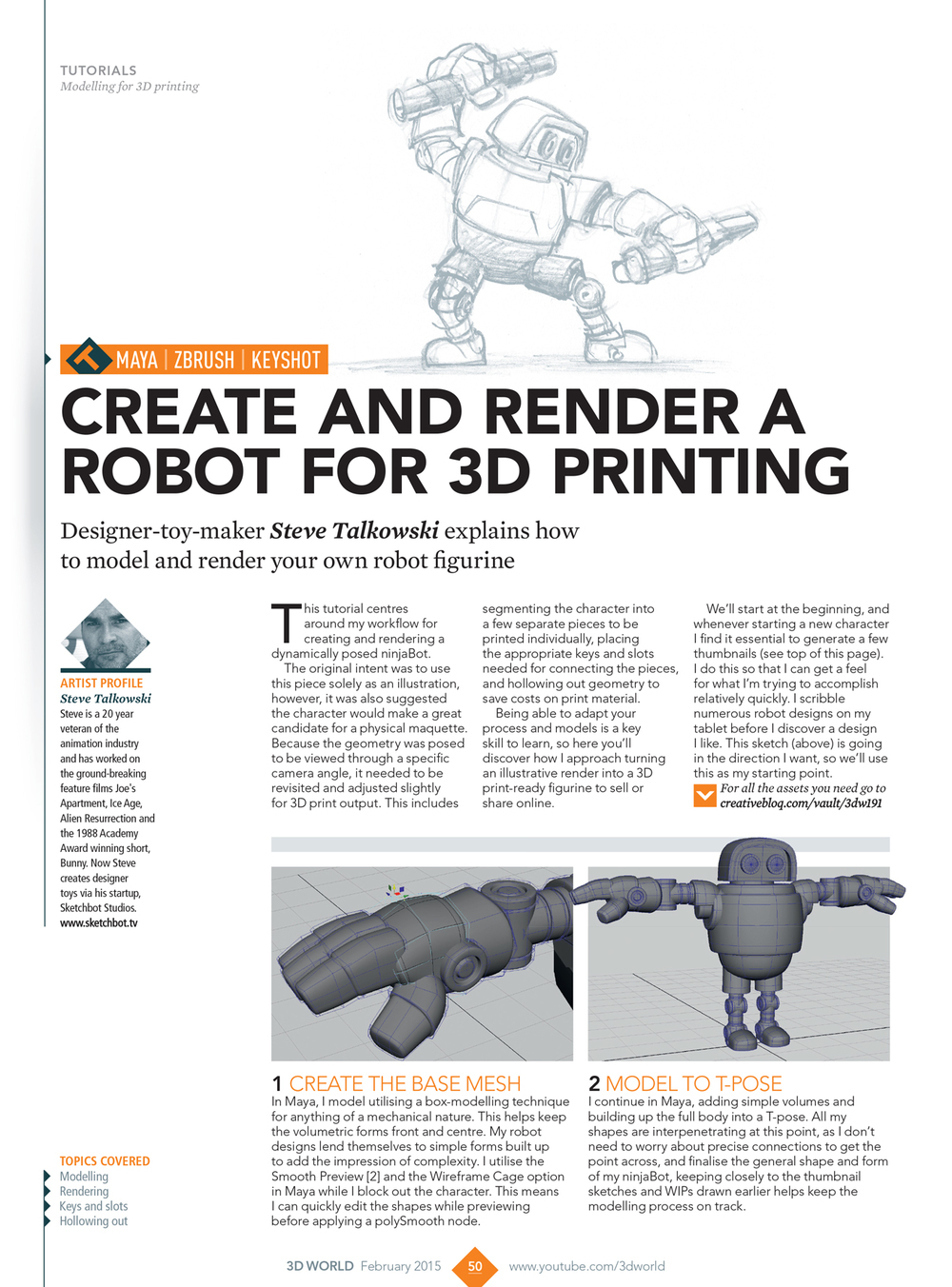 Create and Render a Robot for 3D Printing Tutorial