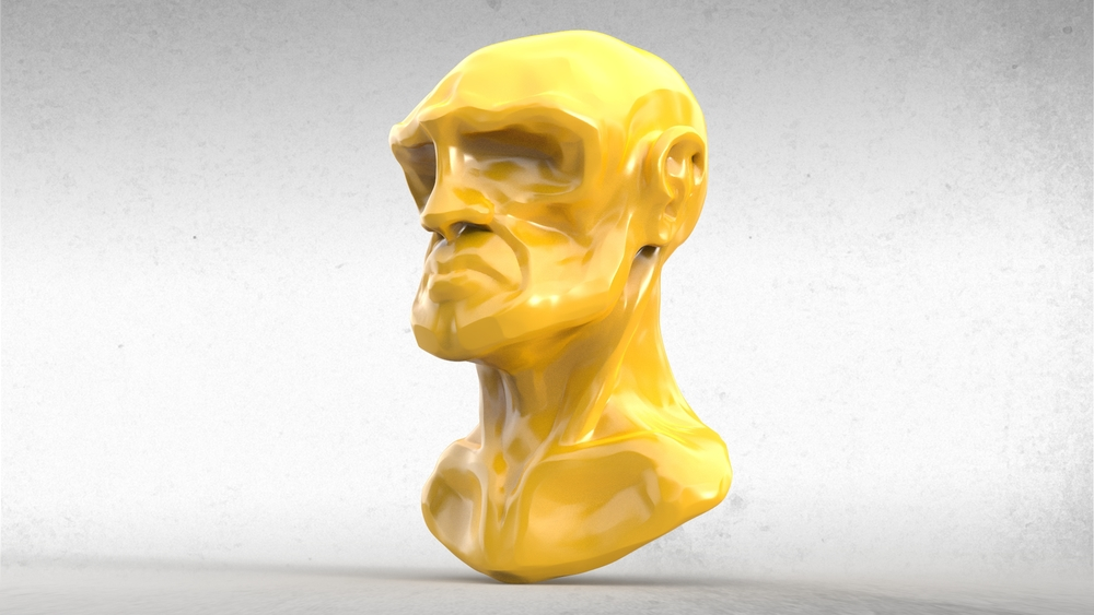 Stylized Head Bust Study
