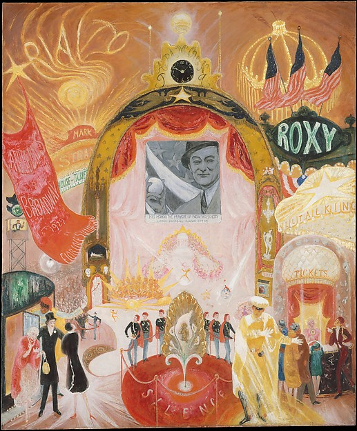 Florine Stettheimer: Cathedrals of Broadway, 1929, oil on canvas, The Metropolitan Museum of Art