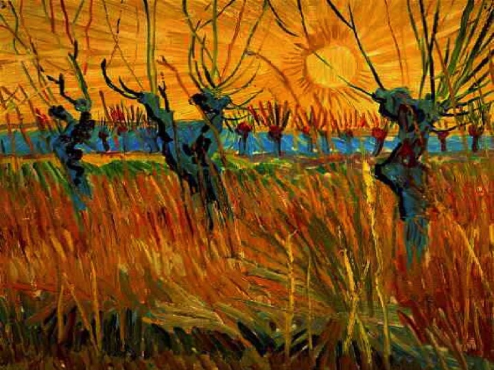 Willows at Sunset , painted in Arles, France, in the Autumn 1888 (Kroeller-Mueller Museum, The Netherlands)