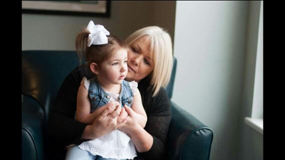 Charlene and her grandbaby, Preslie