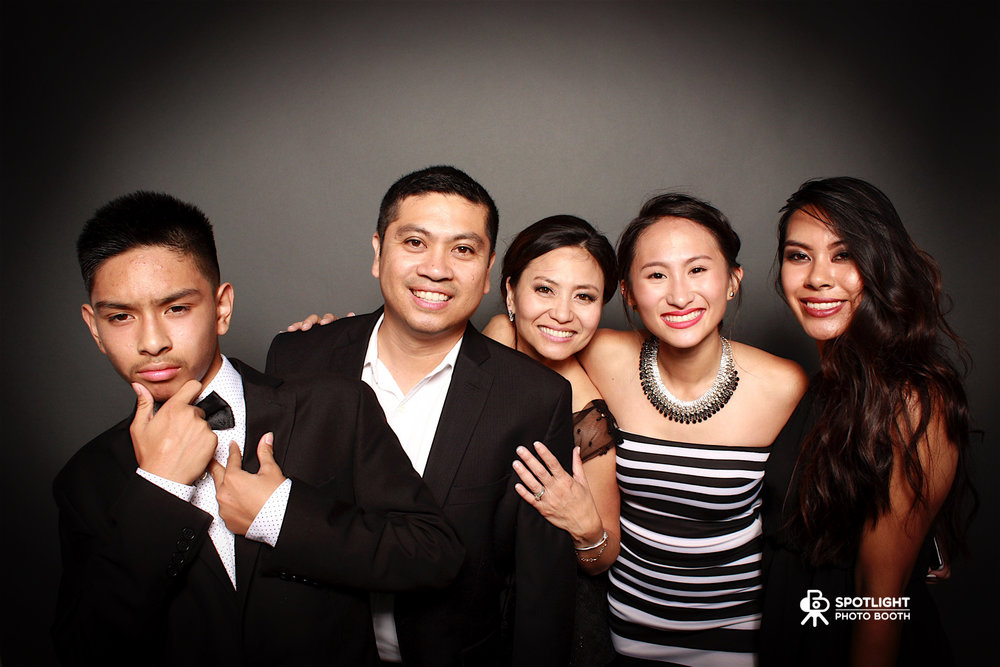 My wacky family plays a big part of our success and yes this is a photo booth photo