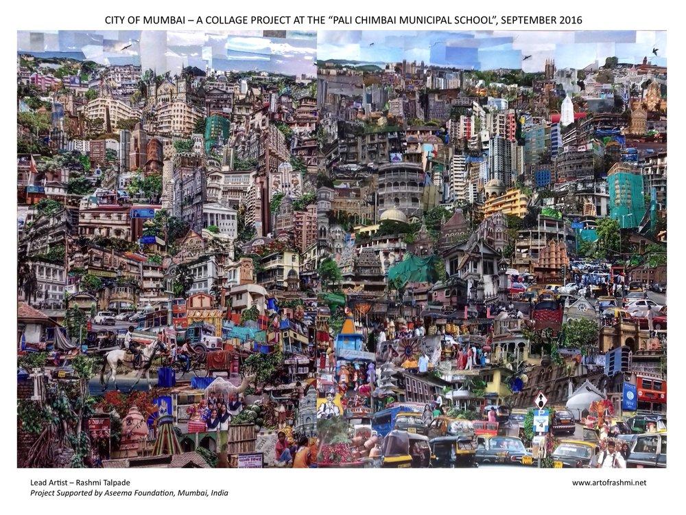 Mumbai Cityscape, a Photo-collage