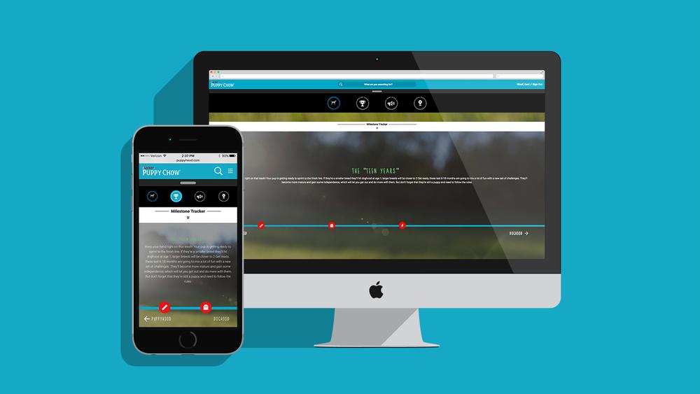 Track your puppy's milestones with the milestone tracker.