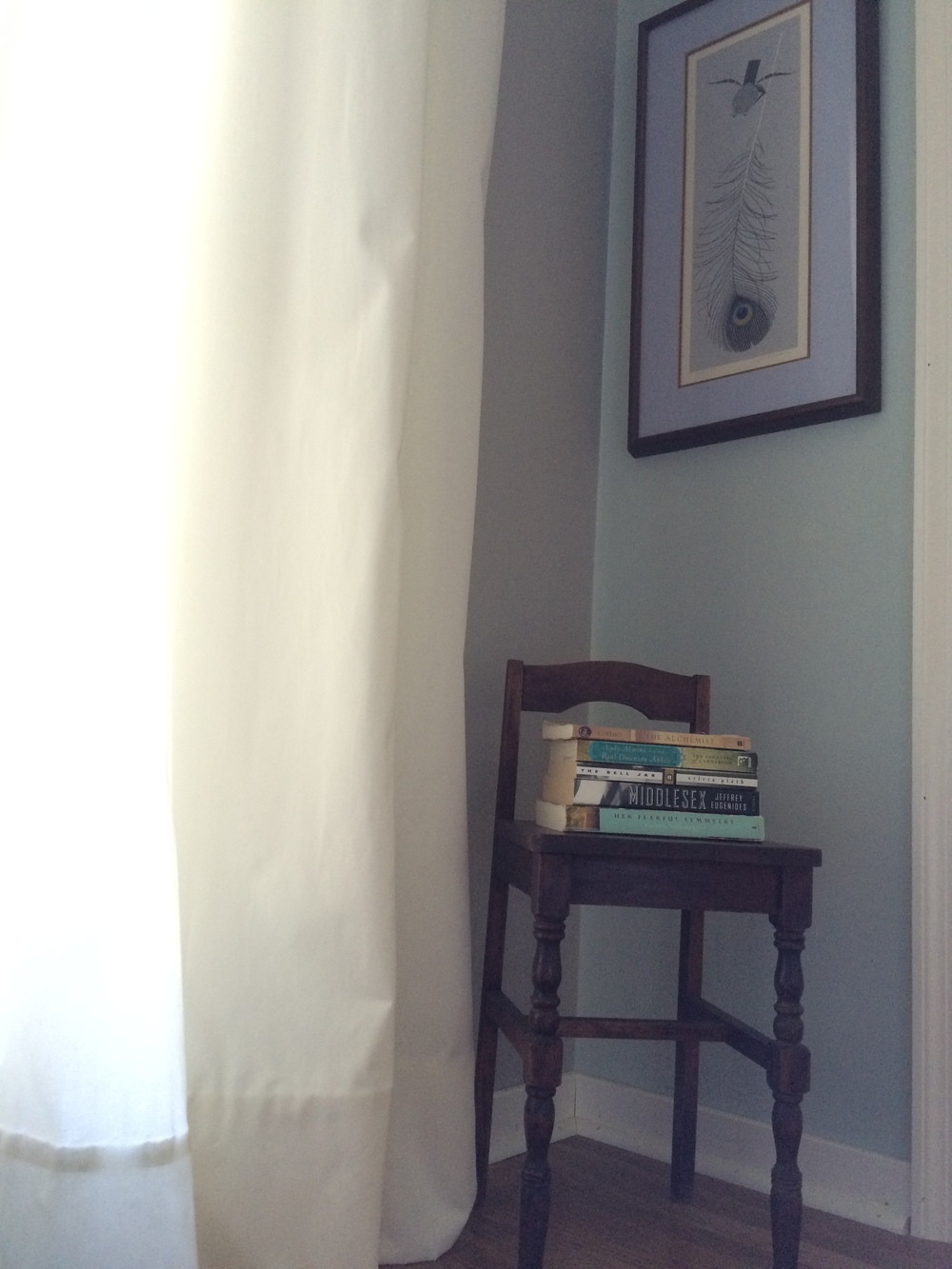 Small chair as book stand