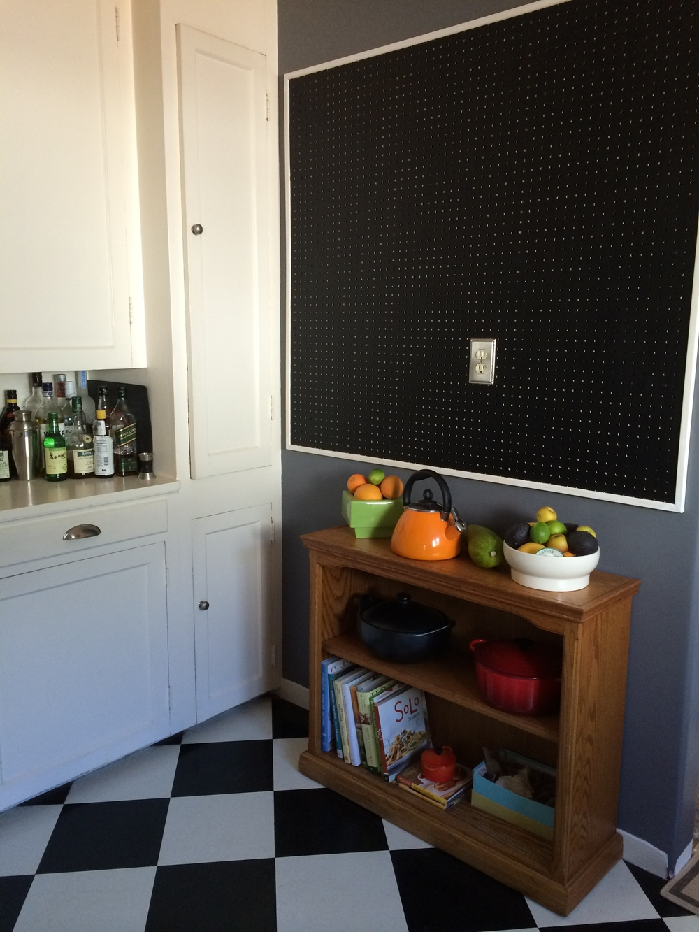 Peg Board with Chalk Board Paint