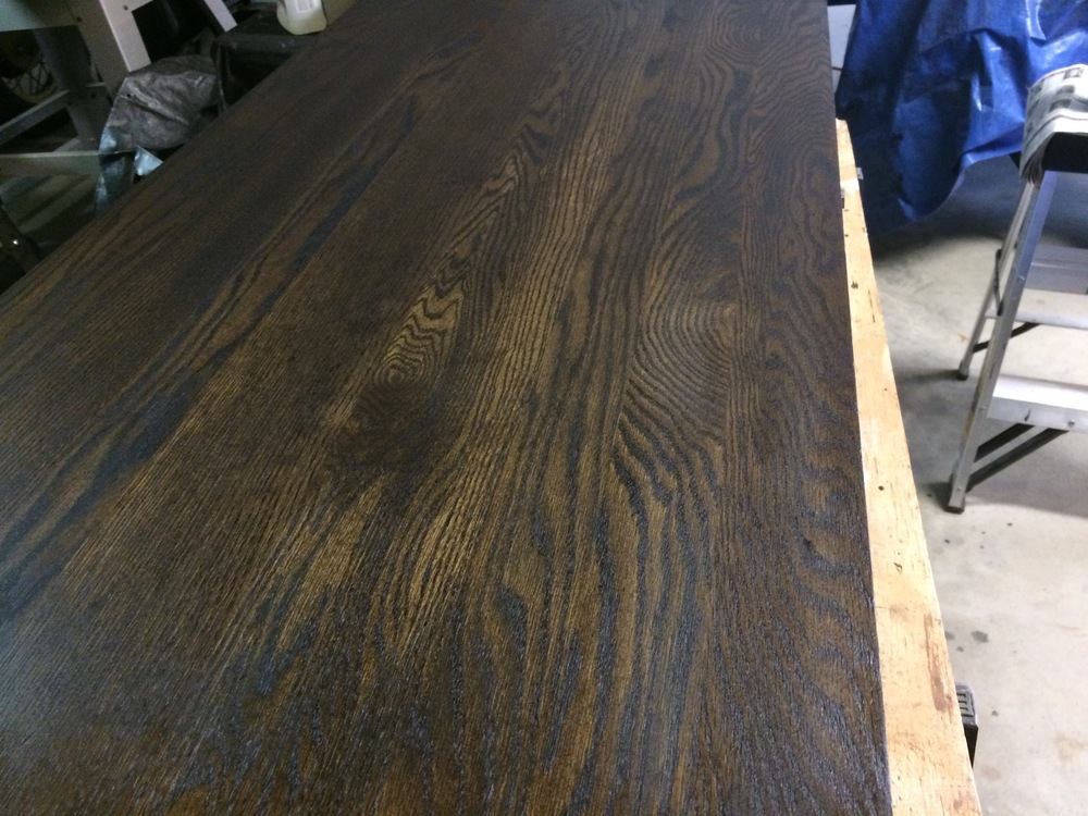 Gentil I Checked Out The Stains Offered And Bought A Name Brand I Have Used For  Years In An Ebony Color. Once I Stripped, Sanded, And Washed The Table, ...