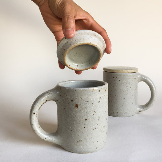 Our lidded mug is perfect for steeping tea!