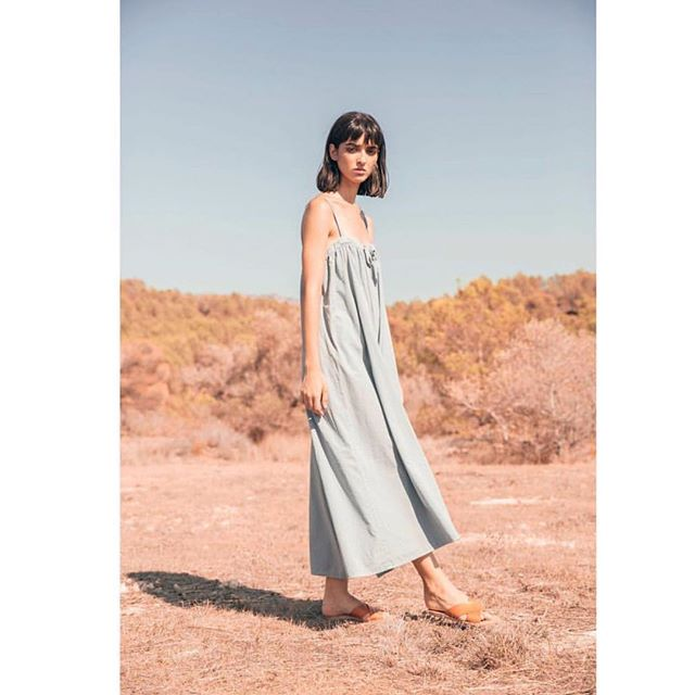 The Marsella Jumpsuit is back in stock for the hot weather! Hi-vibe in organic cotton. 🦋 #naturalfibers #organiccotton #ethicallymade #bywomenforwomen #revisitedmatters #madeinspain #womanowned #summerstyle #sisterstyle