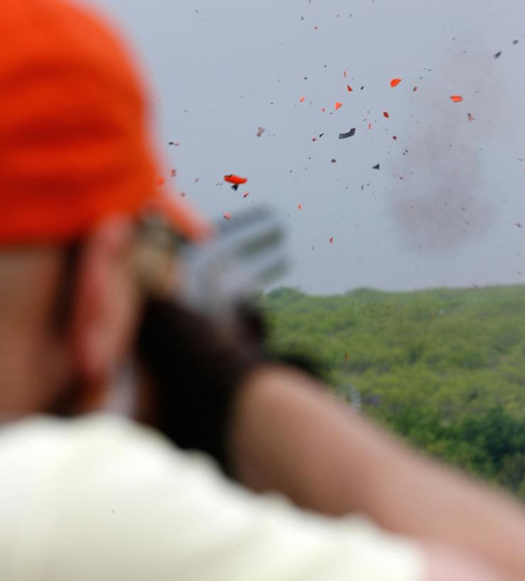 Busting clays isn't hard once you begin to develop the muscle-memory it takes to be successful at it. (Russell Graves photo)