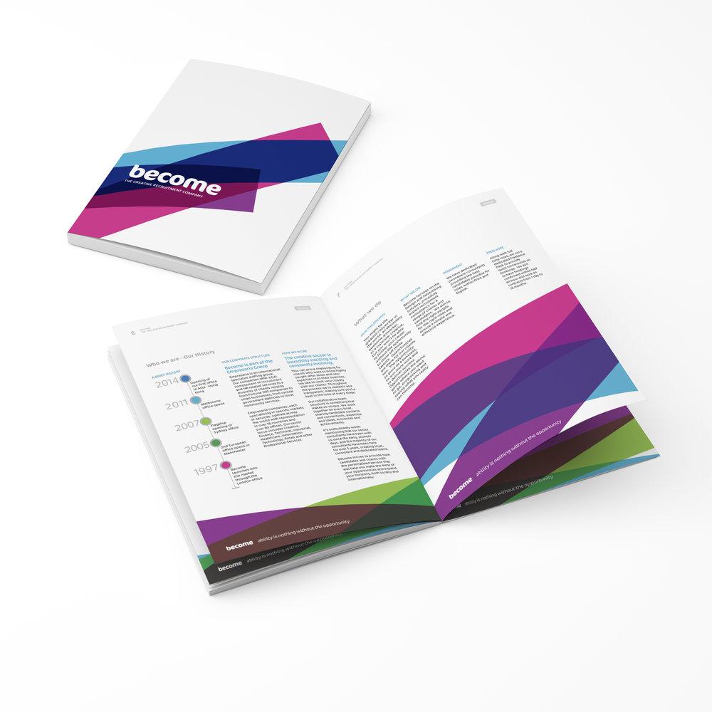Become Corporate Design Brochure Annual Report