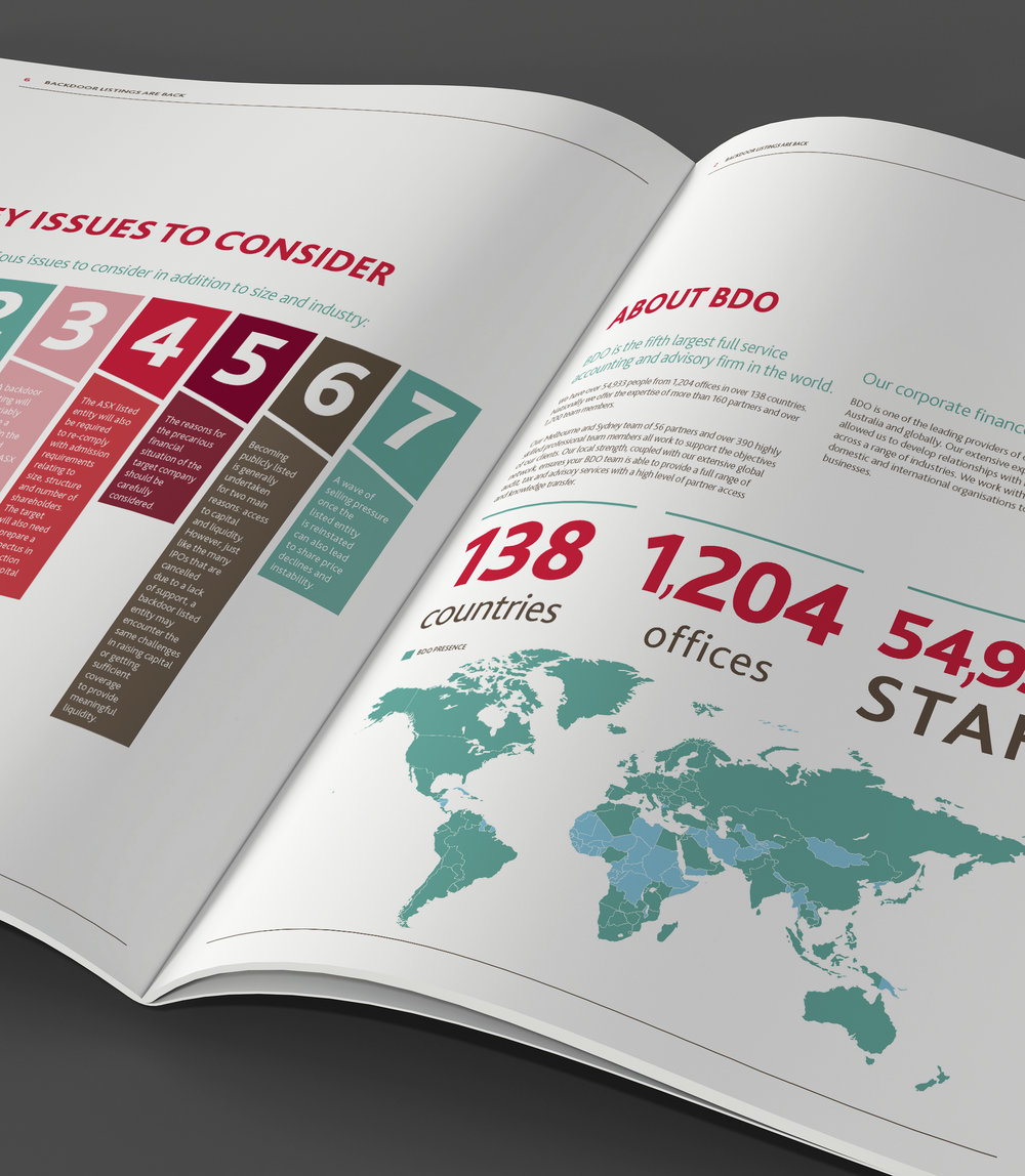BDO  Corporate Design Brochure Annual Report