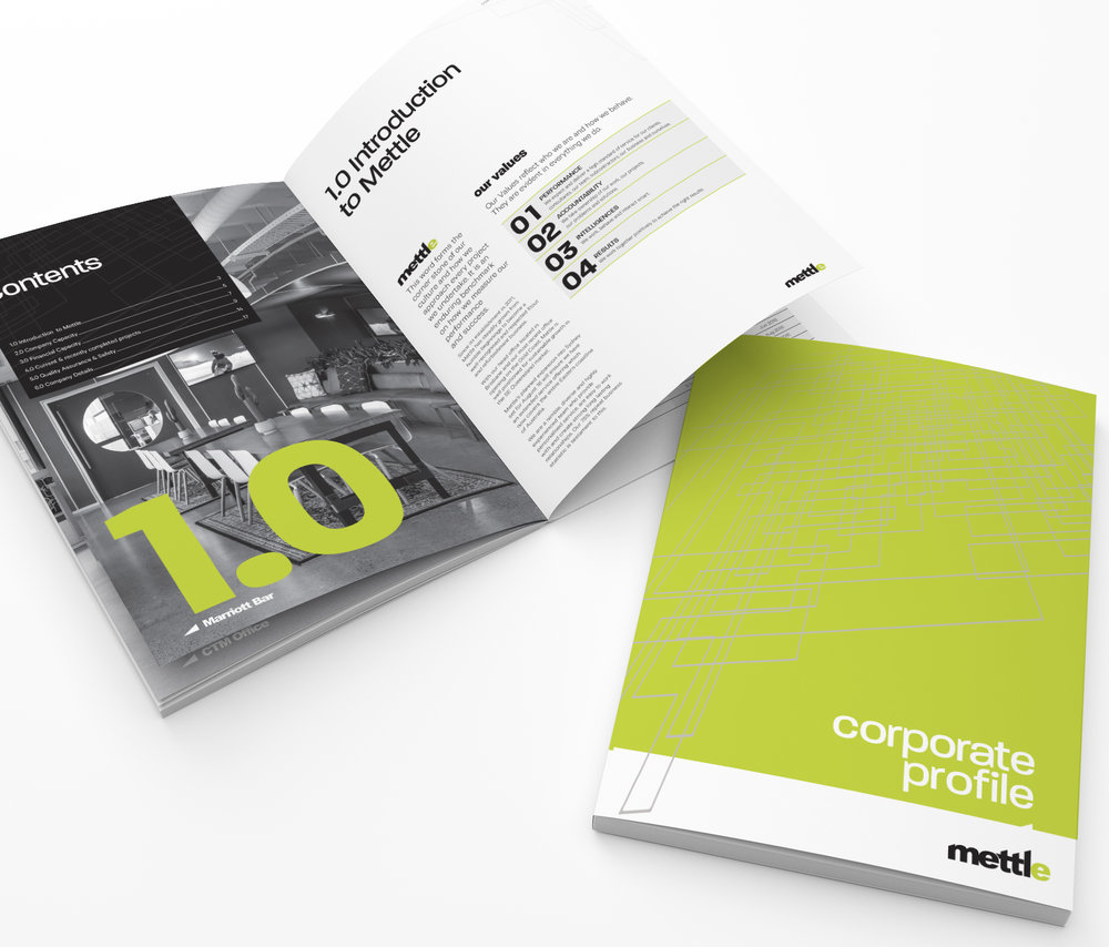 Mettle Corporate Design Brochure Annual Report