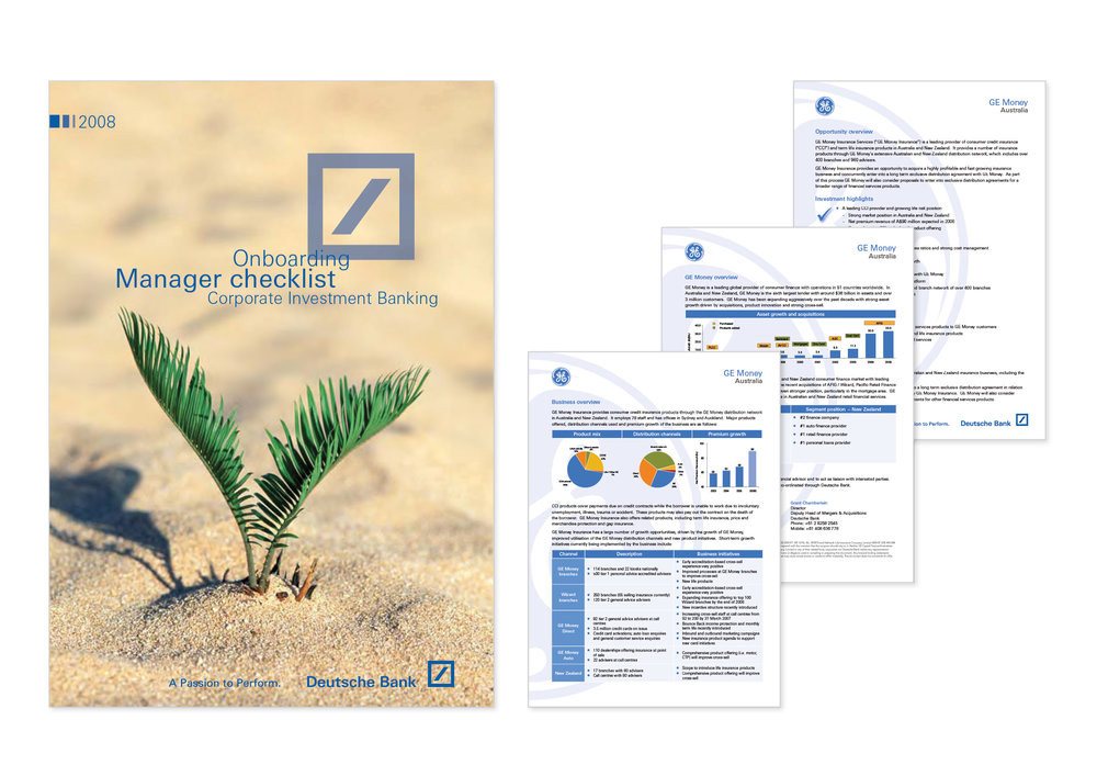 Deutsche Bank Corporate Design Brochure Annual Report