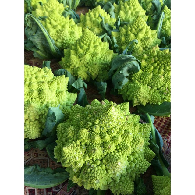 Saturday mornings were made for the #farmersmarket. Today's #fresh find: Romanesco broccoli!  This weekend, challenge yourself to support small business and shop local markets and boutiques.