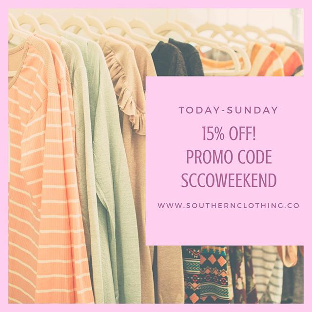 Who LOVES deals!?🙋🏼 Enjoy 15% off today - Sunday 11pm with promo SCCOWEEKEND. 🌟Remember we are a boutique so we only have limited stock of each item!🌟 Click the link in our bio! 🛍Shop here -  www.southernclothing.co . . . . . #boutique #boutiqueshopping #southern #southernbelle #jewelry #shopping #southerncharm #fashion #womensfashion #summerfashion #texas #gameday #collegefootball #southcarolina #florida #lovepromos #georgia #tennessee #rolltide #auburn #kentucky #olemiss #weekend #msu #hailstate #secfootball  #hottytoddy #beautiful #instastyle #styleinspo